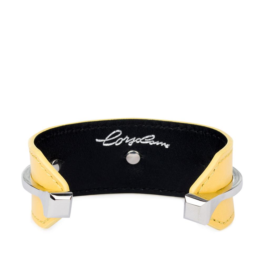 Браслет CorsoComo (Корсо Комо) Минималистичный браслет из кожи цвета мимозы