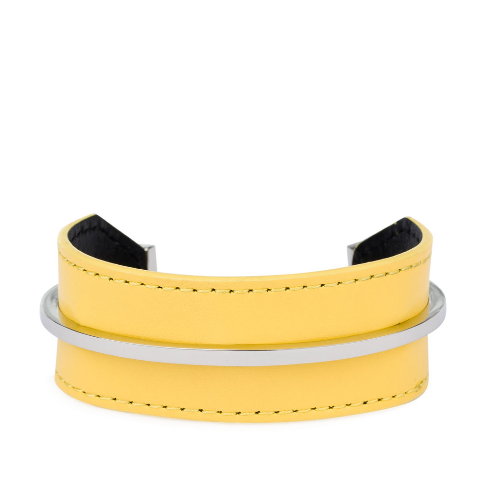 CORSOCOMO Минималистичный браслет из кожи цвета мимозы 11-126-143-02