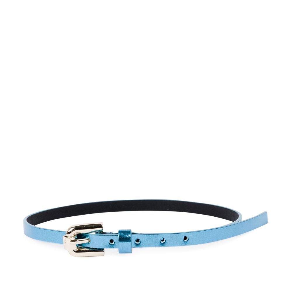 CORSOCOMO Тонкий браслет из металлизированной кожи небесно-голубого цвета 11-126-84-134