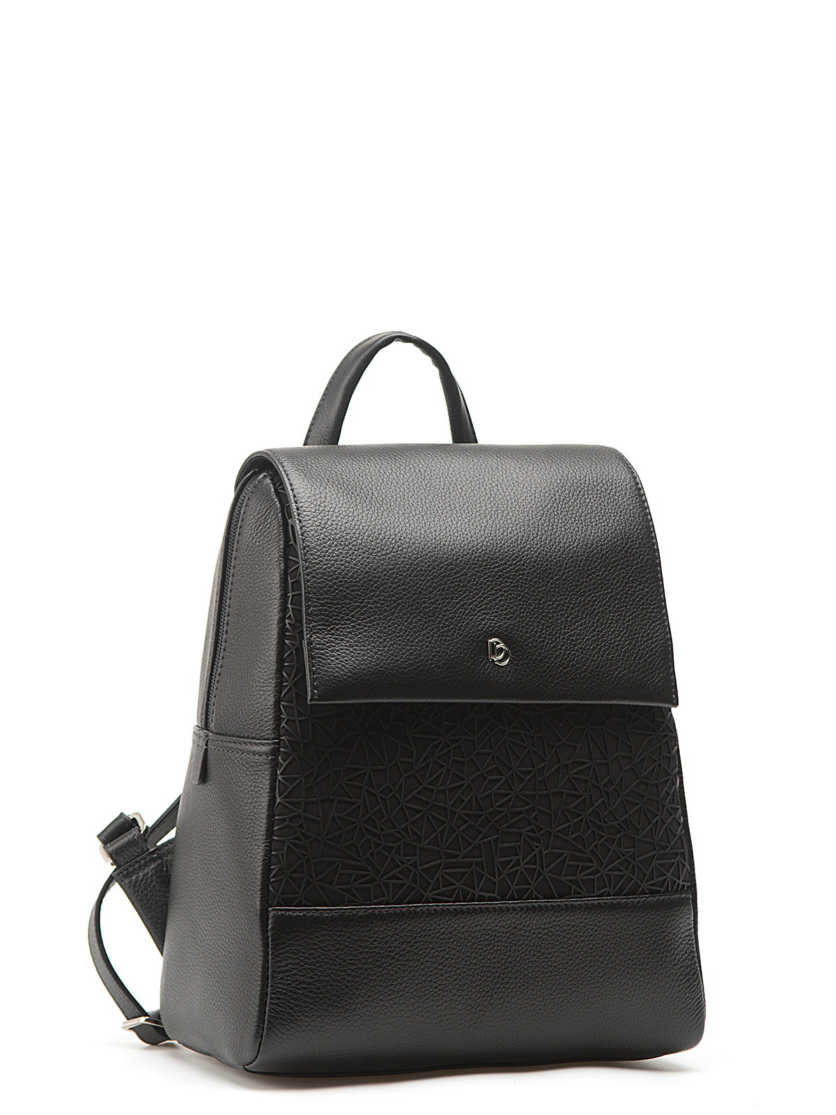 CORSOCOMO Рюкзак из кожи черного цвета с 3D принтом 14230B3-W3 018 CFFGA/K.IB