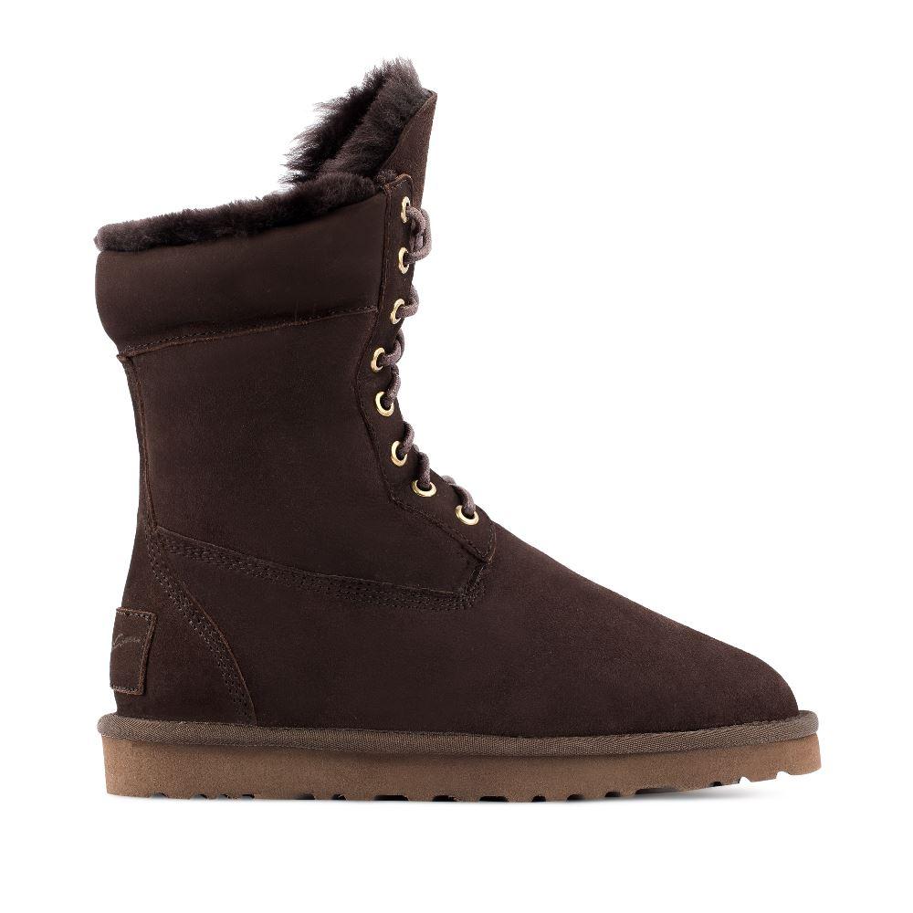 CORSOCOMO Угги из замши коричневого цвета на шнуровке 15-6088-62