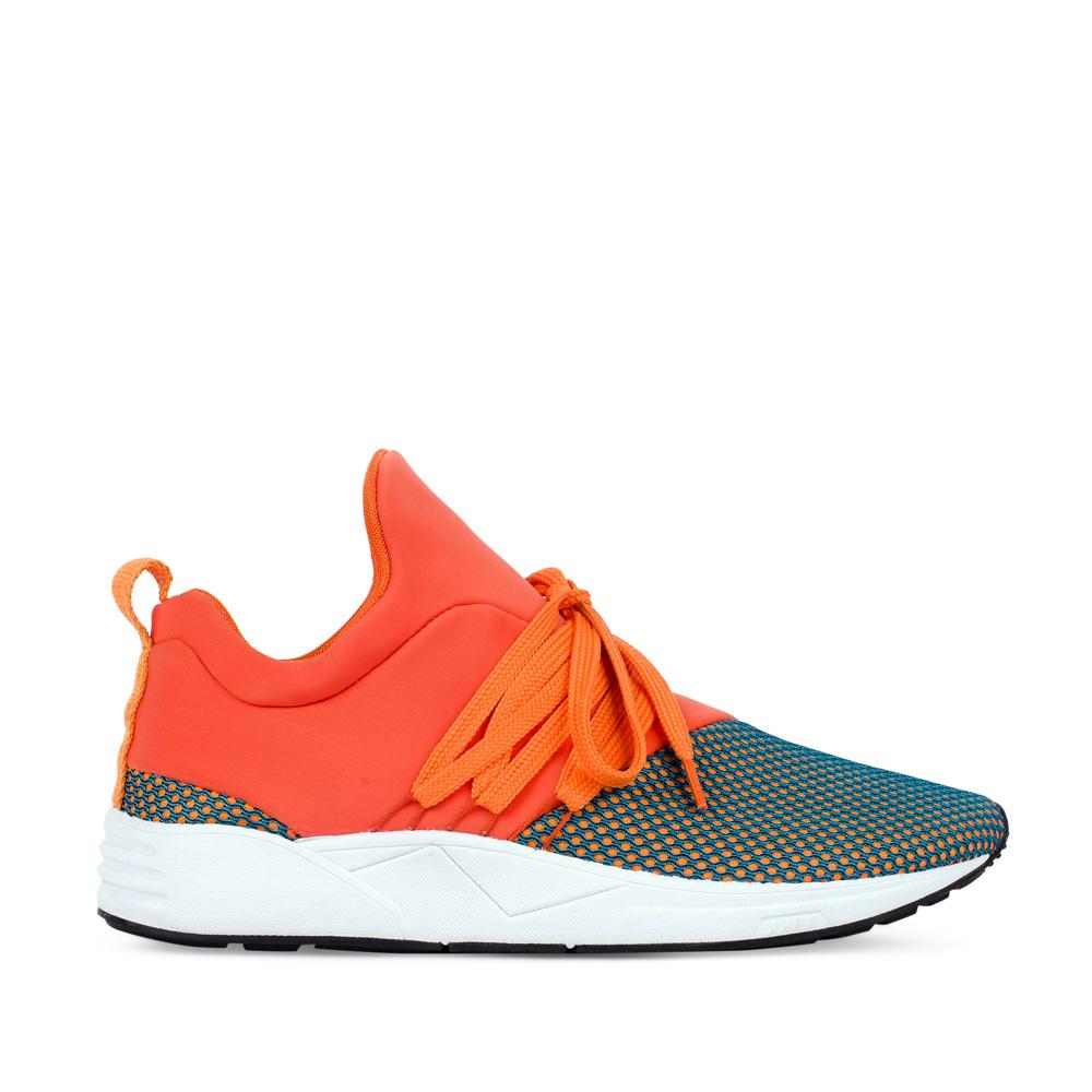 Кроссовки женские оранжевого и синего цветов