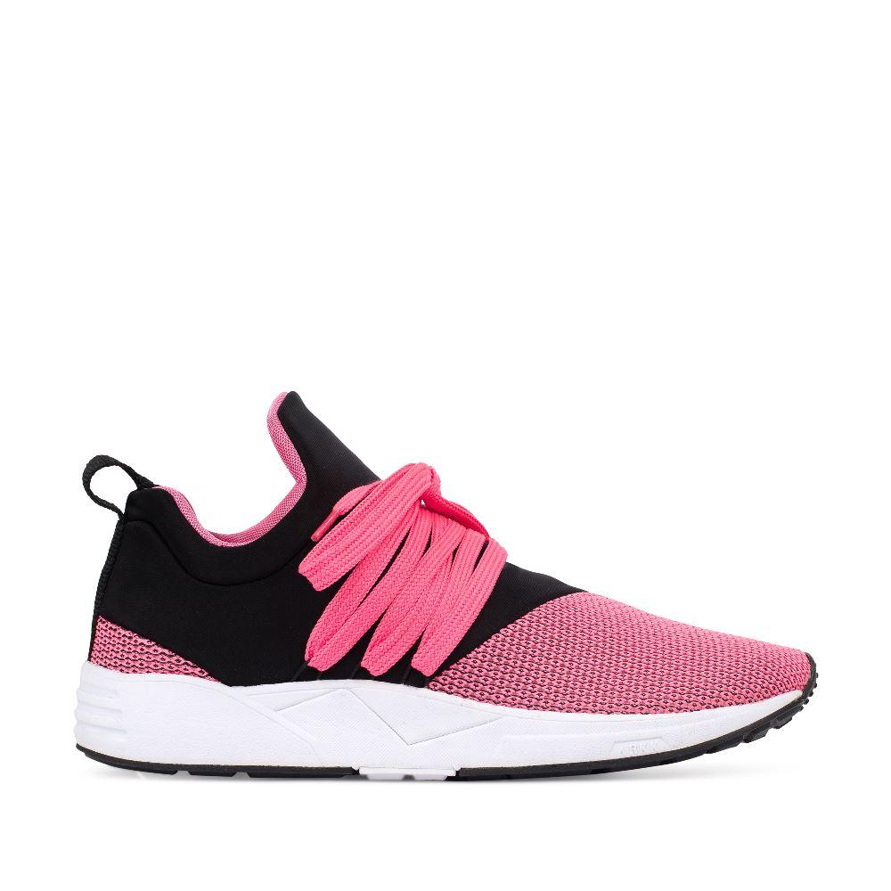 Кроссовки женские розового и черного цветов
