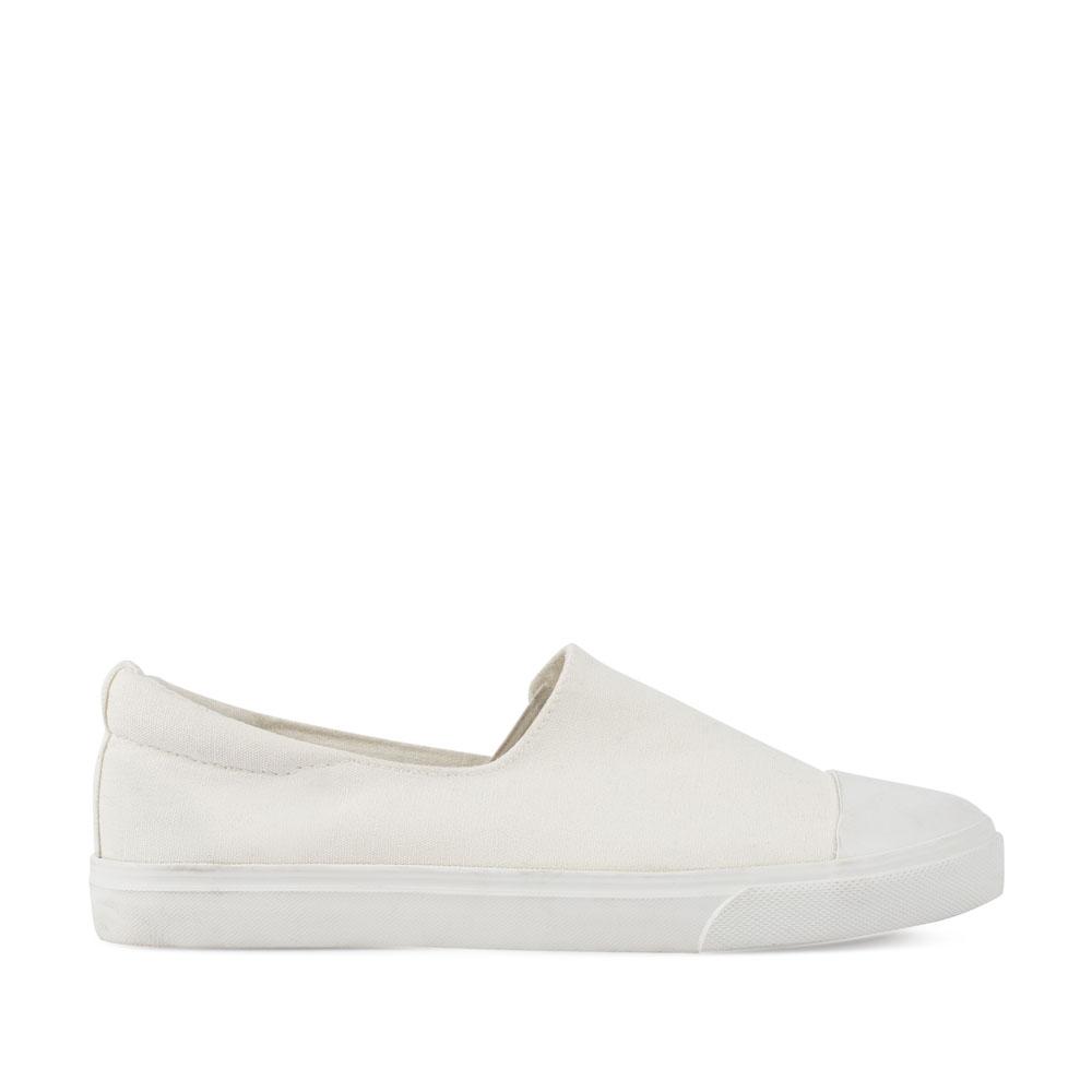 CORSOCOMO Слипоны из текстиля белого цвета 16-D05-1