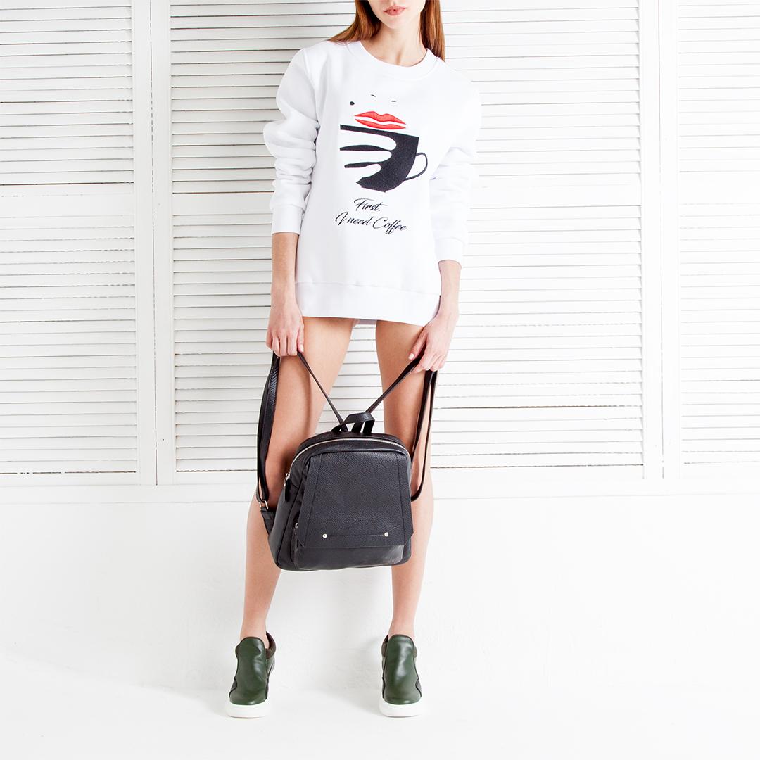 Сумка CorsoComo (Корсо Комо) Рюкзак из кожи черного цвета