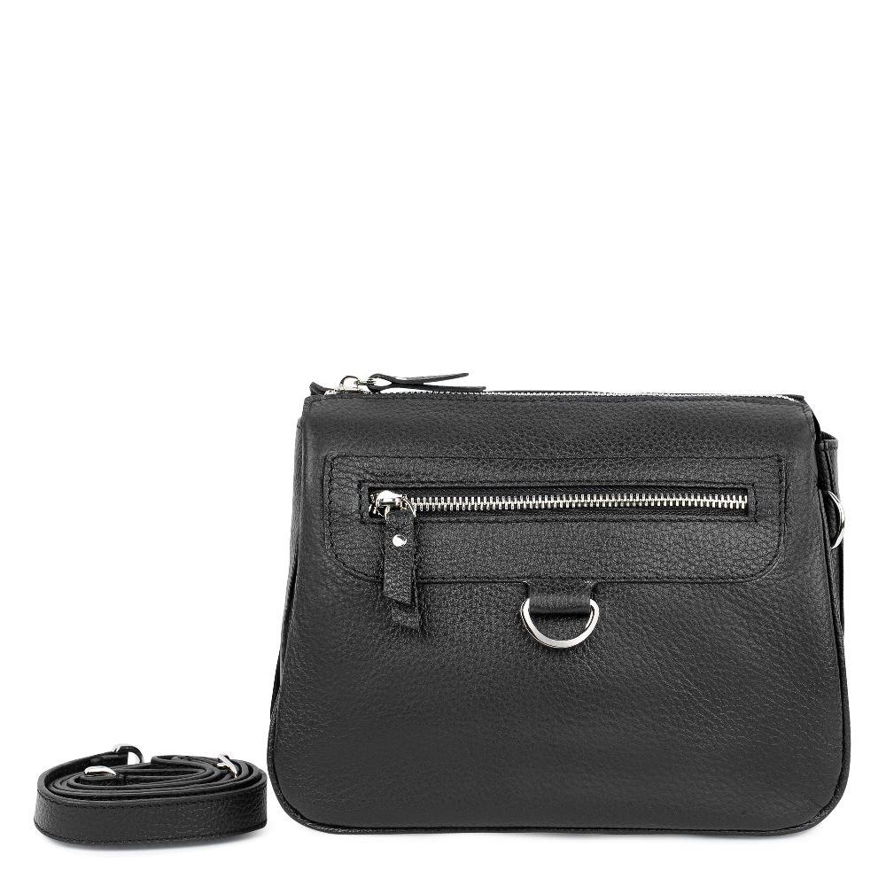 CORSOCOMO Кожаный клатч черного цвета с ремешком 169-1751-2