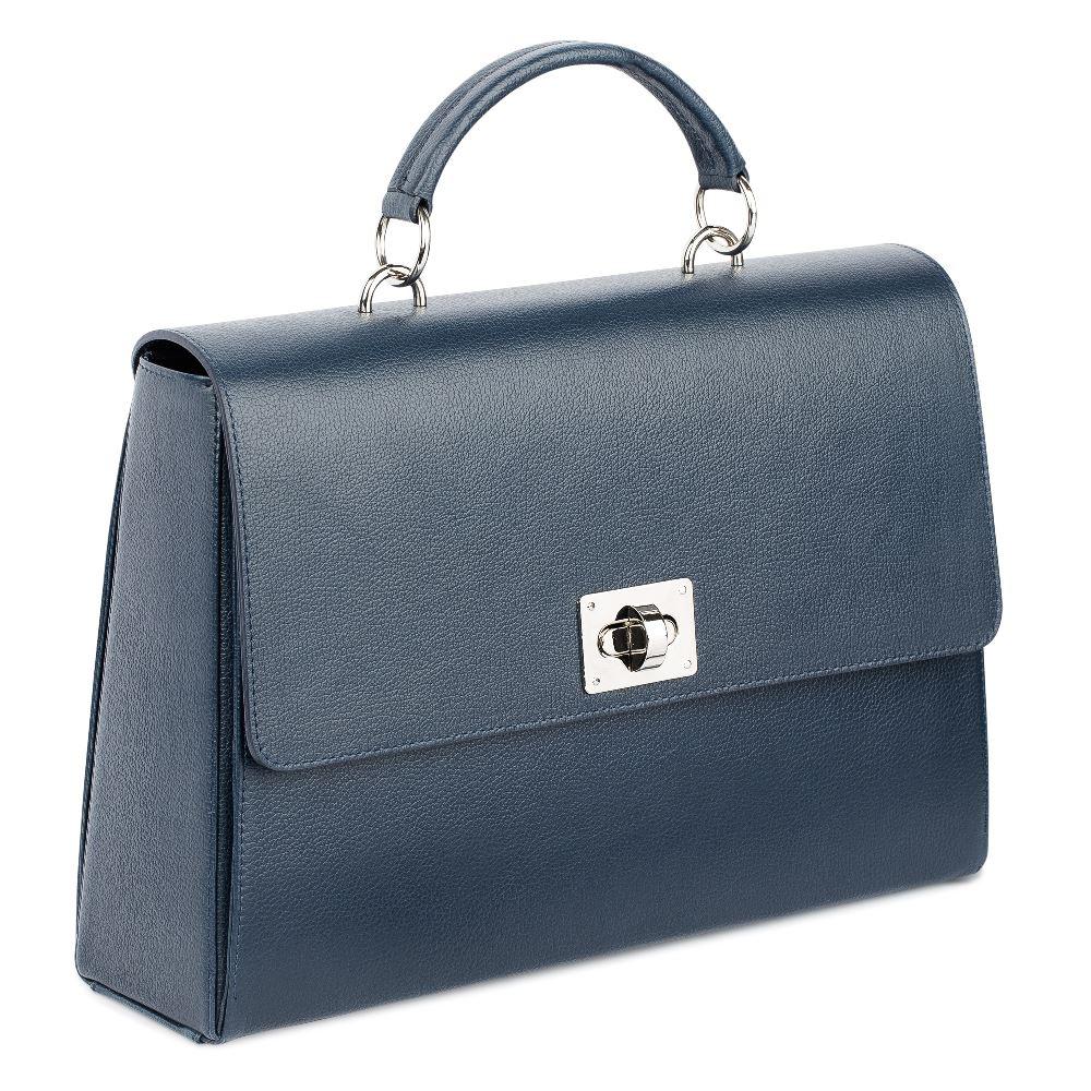 Сумка CorsoComo (Корсо Комо) Кожаная сумка темно-синего цвета на плечо