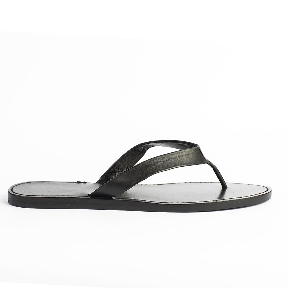 CORSOCOMO Минималистичные пантолеты черного цвета из кожи 17-005-01-15