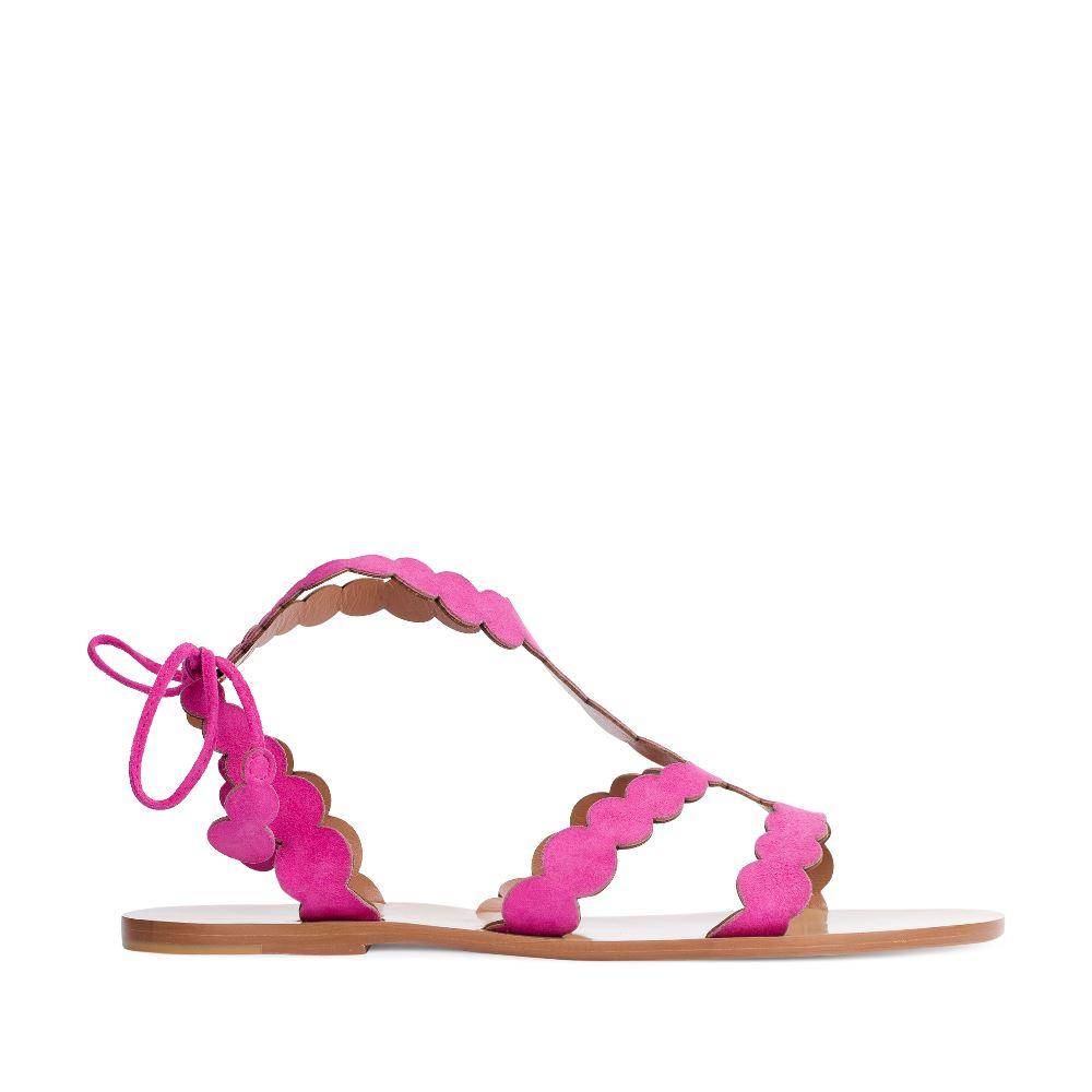 Сандалии из кожи розового цвета 17-005-01-42-25