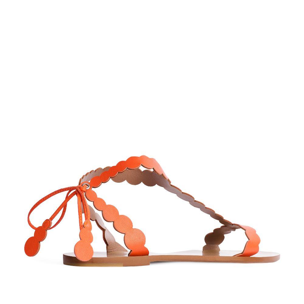 Женские сандалии CorsoComo (Корсо Комо) 17-005-01-43-15 к.п. Сандалеты жен кожа оранж.