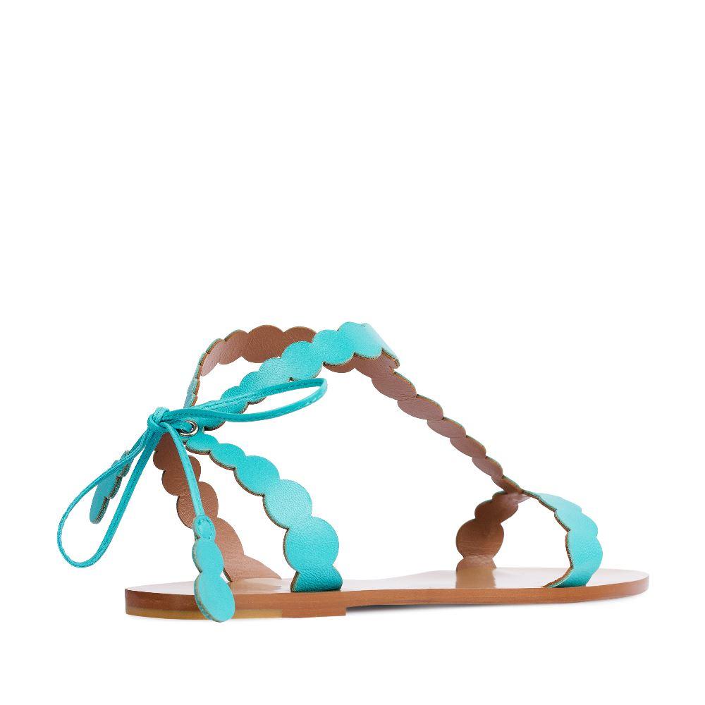 Женские сандалии CorsoComo (Корсо Комо) Сандалии из кожи бирюзового цвета с ремешками