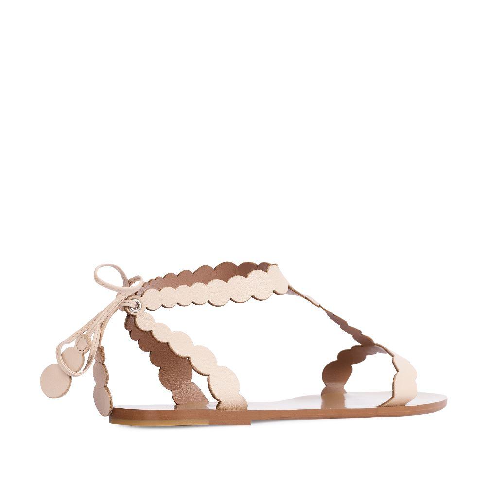 Женские сандалии CorsoComo (Корсо Комо) Сандалии из кожи кремового цвета