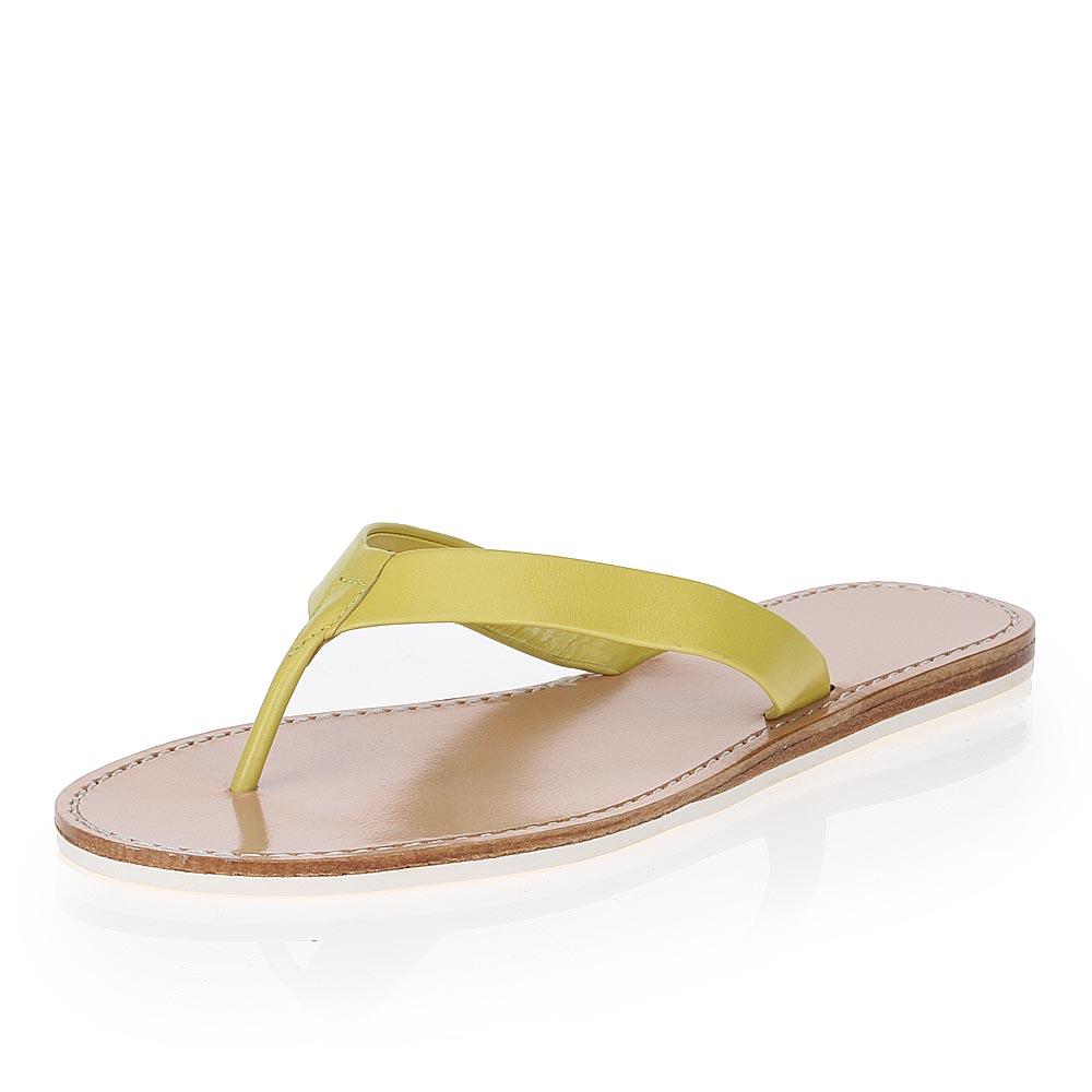 Женские сандалии CorsoComo (Корсо Комо) 17-005-01-55 к.п. Пантолеты жен кожа желт.
