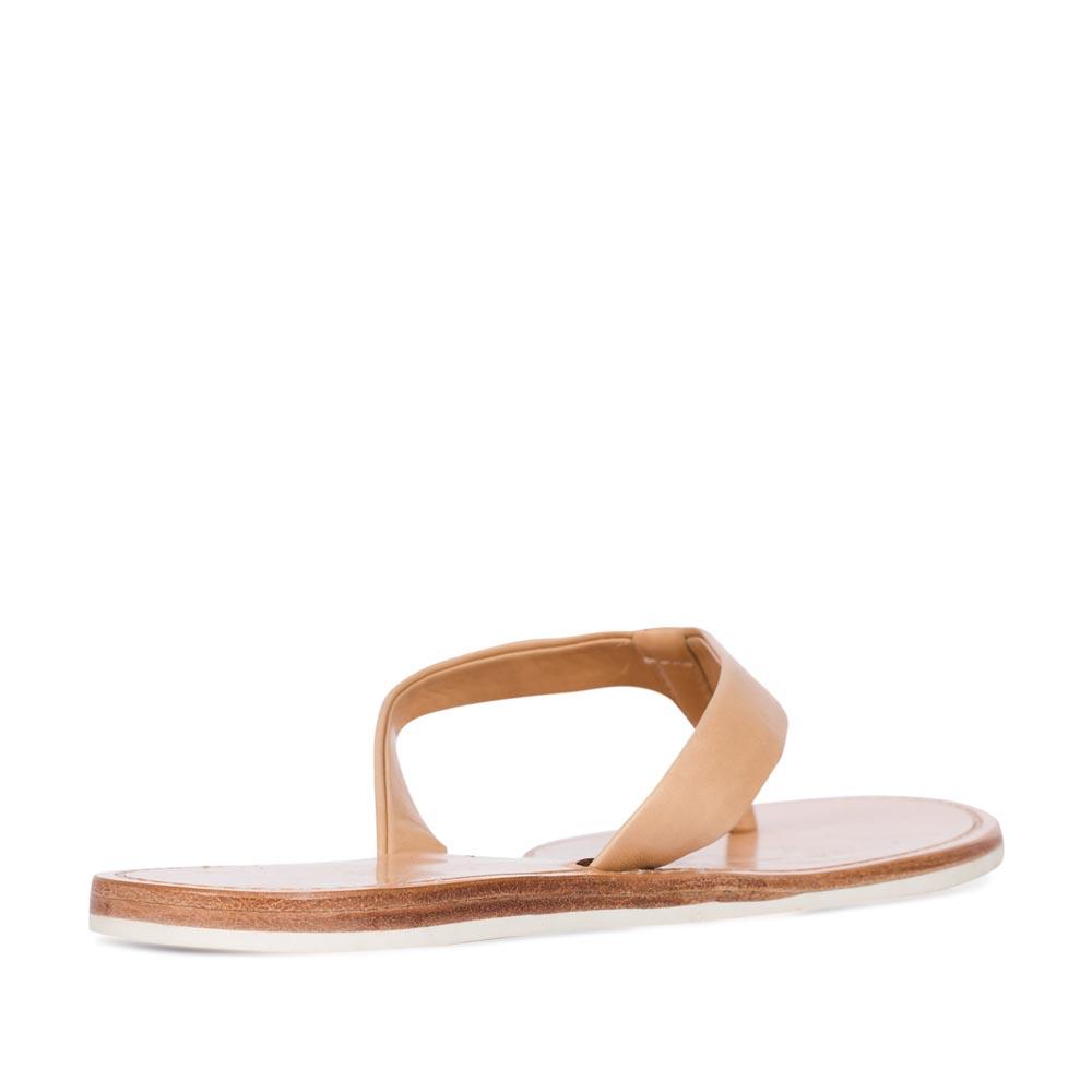 Женские сандалии CorsoComo (Корсо Комо) Кожаные пантолеты пудрового цвета