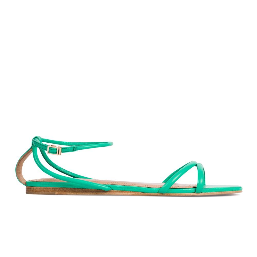 CORSOCOMO Кожаные сандалии бирюзового цвета 17-005-20-45