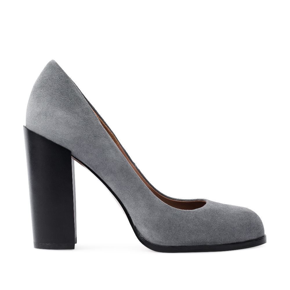 Туфли-лодочки из замши серого цвета на устойчивом каблукеТуфли<br><br>Материал верха: Замша<br>Материал подкладки: Кожа<br>Материал подошвы: Кожа<br>Цвет: Серый<br>Высота каблука: 11 см<br>Дизайн: Италия<br>Страна производства: Китай<br><br>Высота каблука: 11 см<br>Материал верха: Замша<br>Материал подкладки: Кожа<br>Цвет: Серый<br>Пол: Женский<br>Вес кг: 590.00000000<br>Размер: 35