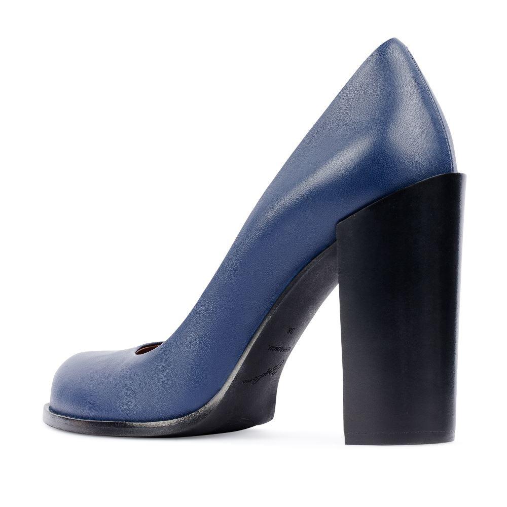 Туфли на каблуке CorsoComo (Корсо Комо) 17-105-02-01-155 к.п. Туфли лодочки жен кожа син.