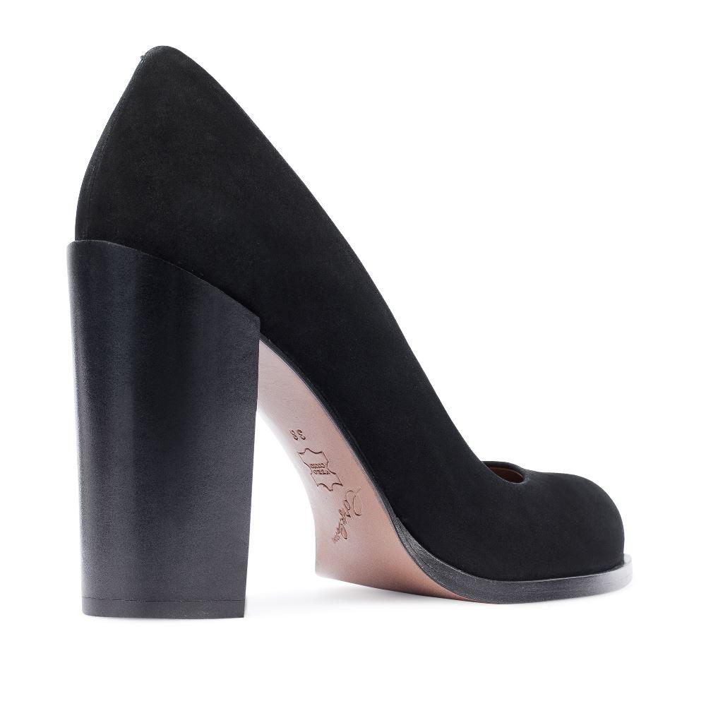 Туфли на каблуке CorsoComo (Корсо Комо) 17-105-02-01-235 к.п. Туфли жен нубук черн.