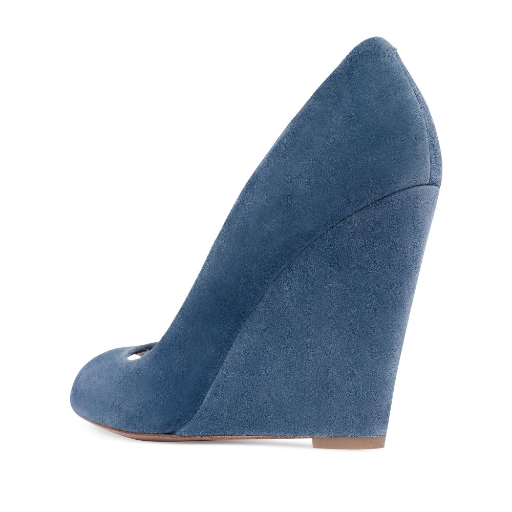 Женские туфли CorsoComo (Корсо Комо) 17-129-01-08-75 к.п. Туфли жен велюр голуб.
