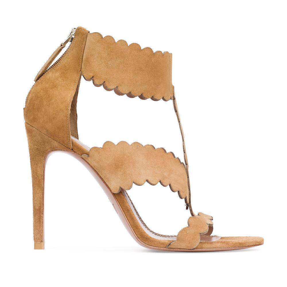 Босоножки из замши песочного цвета на высоком каблукеТуфли женские<br><br>Материал верха: Замша<br>Материал подкладки: Кожа<br>Материал подошвы:Кожа<br>Цвет: Коричневый<br>Высота каблука: 10 см<br>Дизайн: Италия<br>Страна производства: Китай<br><br>Высота каблука: 10 см<br>Материал верха: Замша<br>Материал подошвы: Кожа<br>Материал подкладки: Кожа<br>Цвет: Коричневый<br>Вес кг: 1.00000000<br>Размер: 37