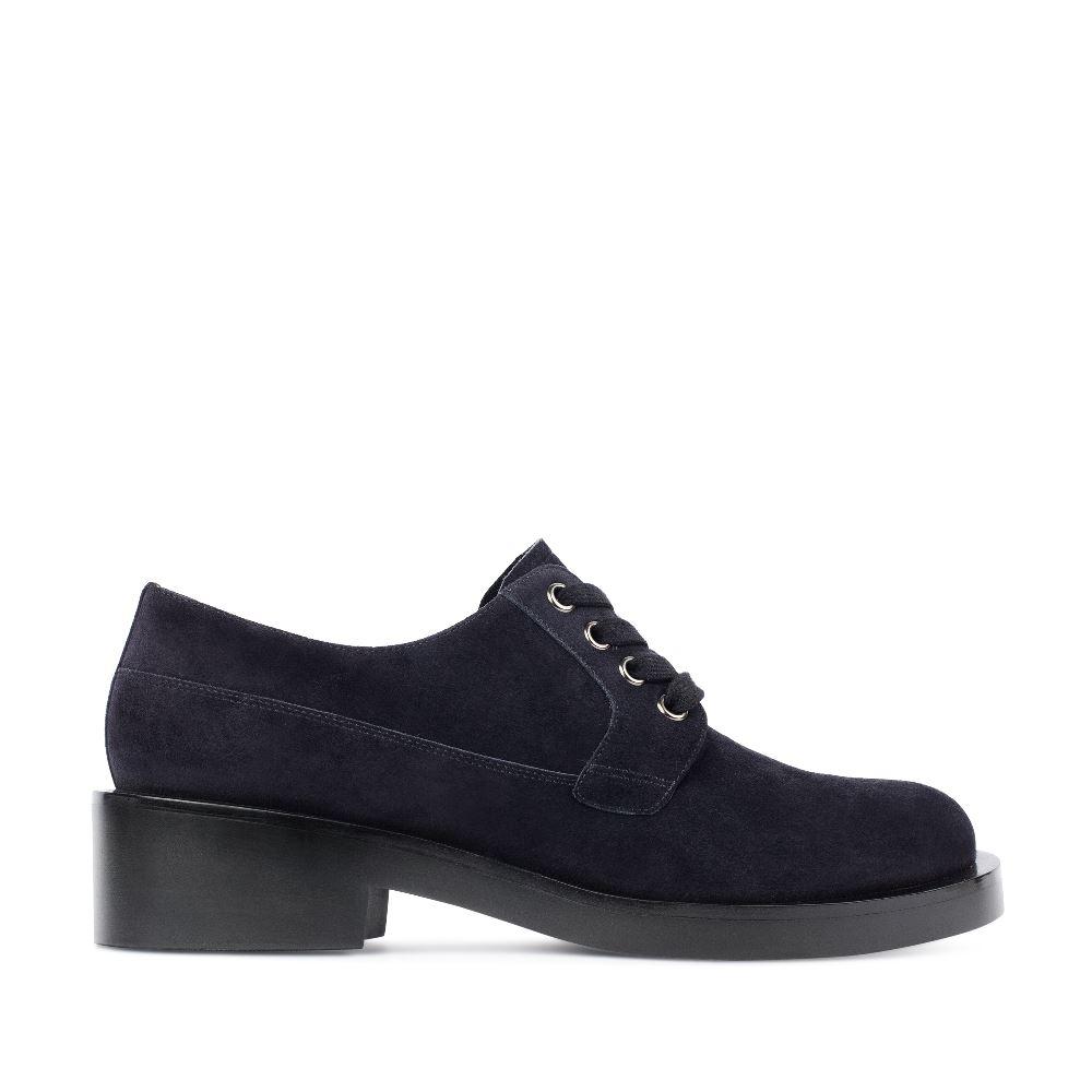 Ботинки из замши темно-синего цвета