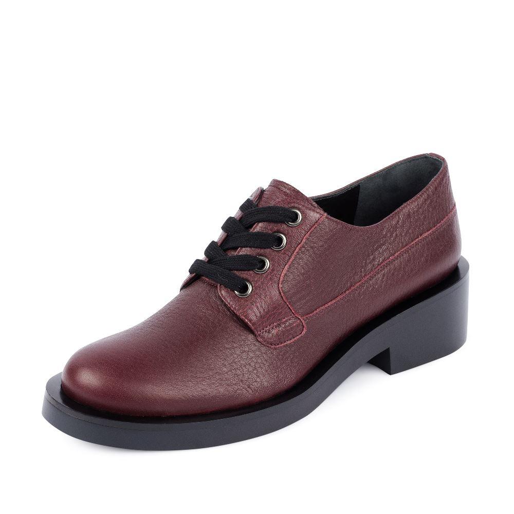 Женские ботинки CorsoComo (Корсо Комо) Ботинки из кожи бордового цвета на шнуровке