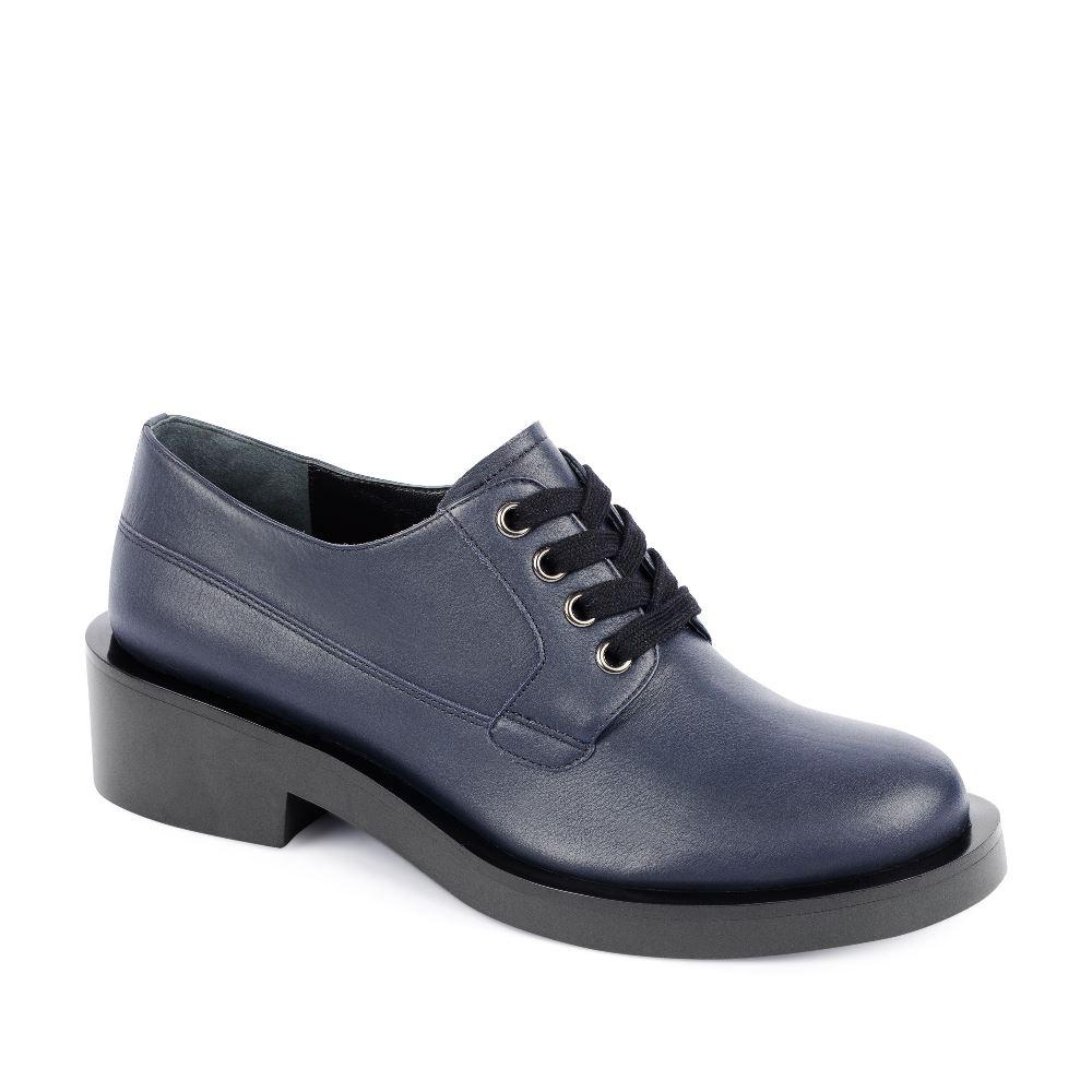 Женские ботинки CorsoComo (Корсо Комо) Кожаные ботинки на шнуровке синего цвета