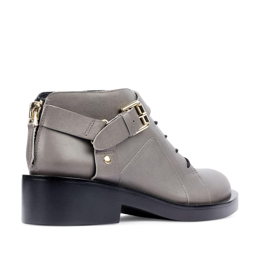Женские ботинки CorsoComo (Корсо Комо) Ботинки из кожи серого цвета с ремешком
