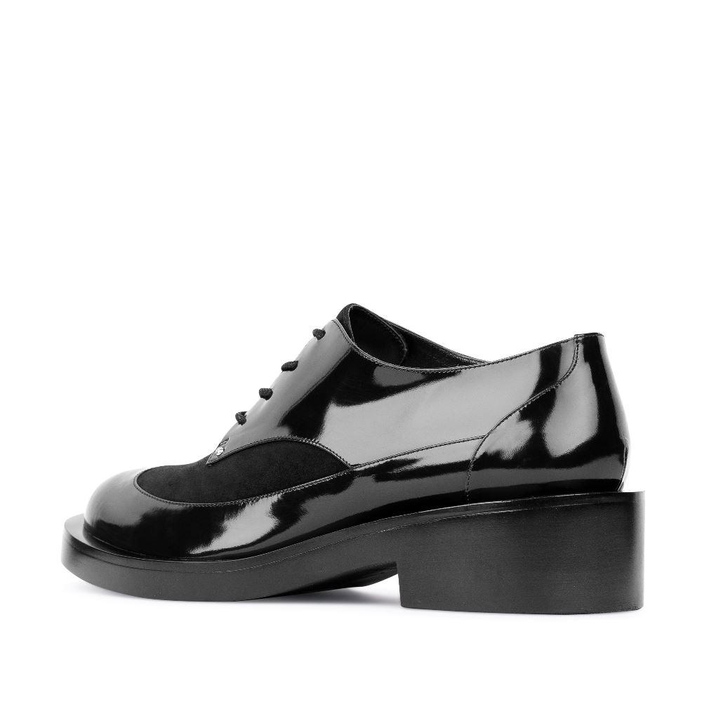 Женские ботинки CorsoComo (Корсо Комо) Ботинки черного цвета из лакированной кожи