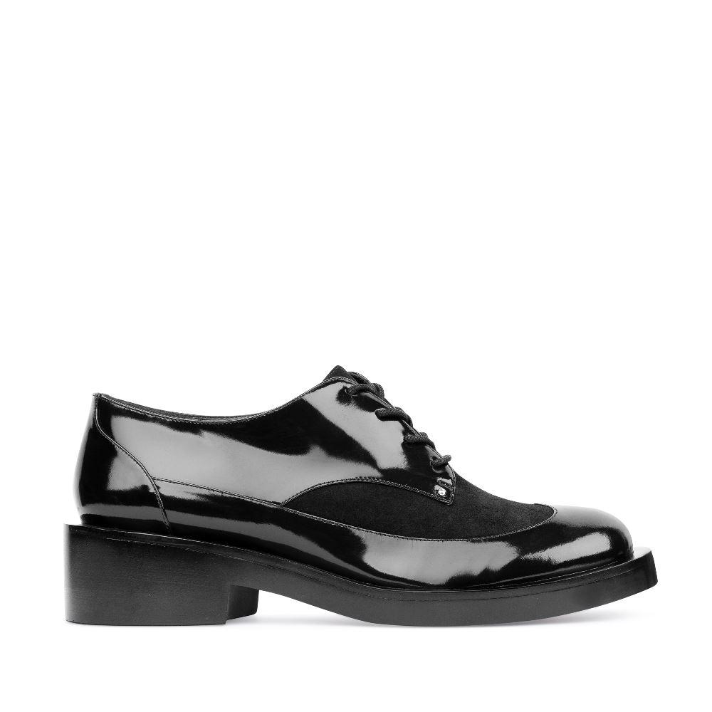 CORSOCOMO Ботинки черного цвета из лакированной кожи 17-453-01-63-55