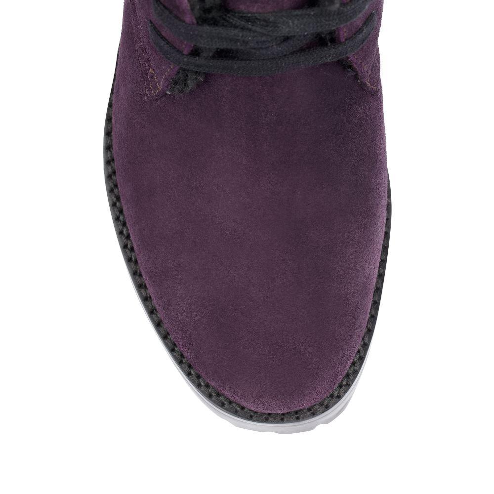 Женские ботинки CorsoComo (Корсо Комо) Ботинки из замши аметистового цвета на тракторной подошве