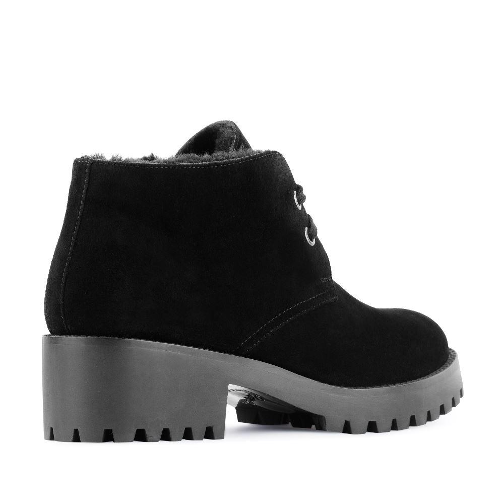 Женские ботинки CorsoComo (Корсо Комо) Ботинки из замши черного цвета с мехом