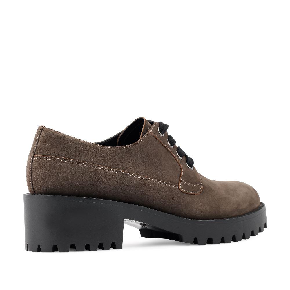 Женские ботинки CorsoComo (Корсо Комо) Ботинки из нубука трюфельного цвета