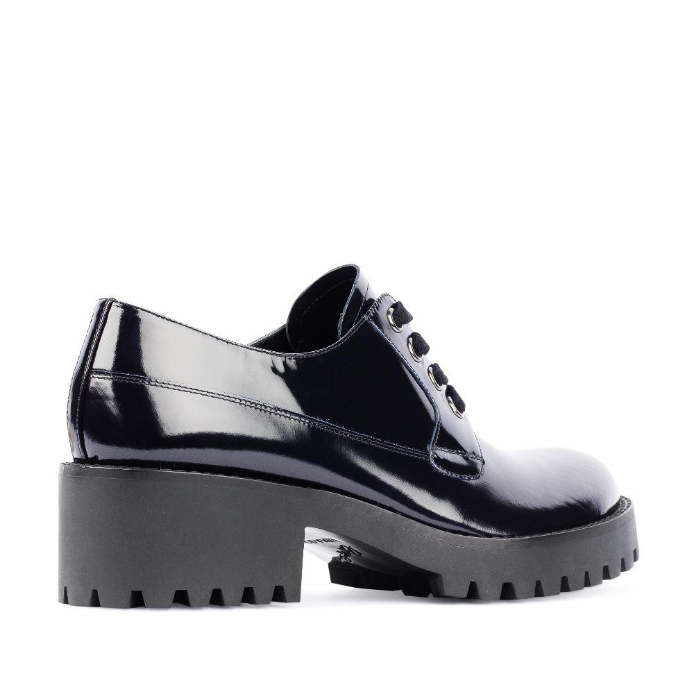 Женские ботинки CorsoComo (Корсо Комо) 17-453-02-10-315 к.п. Туфли жен лак т.син.