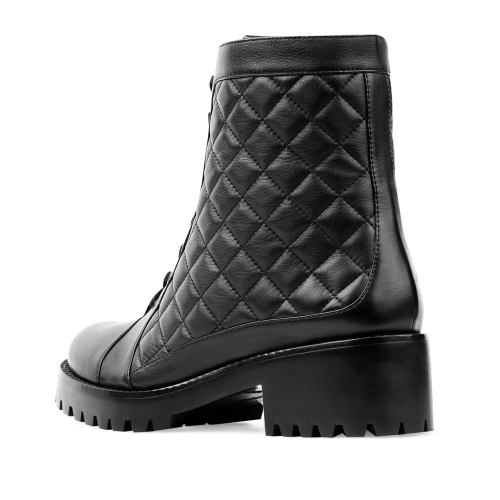 Женские ботинки CorsoComo (Корсо Комо) 17-453-02-48-12 мех Полусапоги жен кожа черн.