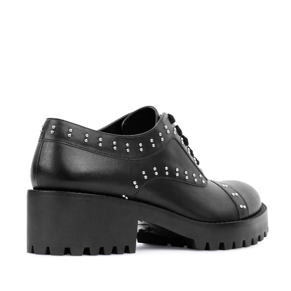 Женские ботинки CorsoComo (Корсо Комо) 17-453-02-62-15 к.п. Полуботинки жен кожа черн.