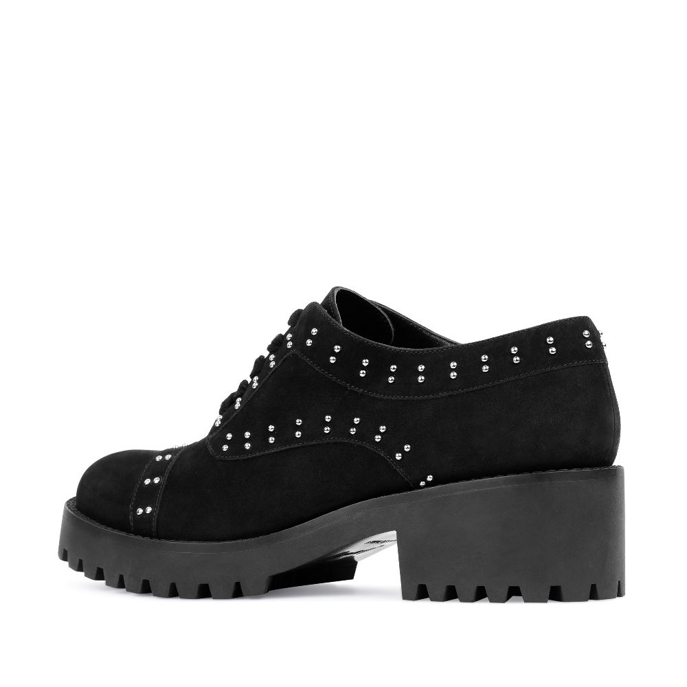 Женские ботинки CorsoComo (Корсо Комо) 17-453-02-62-25 к.п. Полуботинки жен нубук черн.