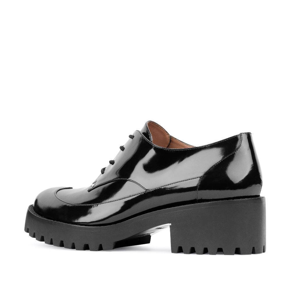 Женские ботинки CorsoComo (Корсо Комо) 17-453-02-63-35 к.п. Полуботинки жен лак черн.