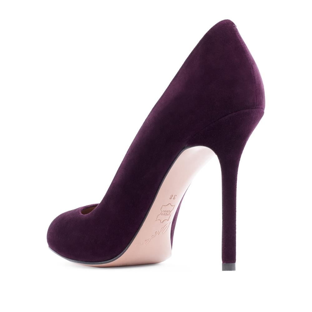 Туфли на каблуке CorsoComo (Корсо Комо) Туфли из замши аметистового цвета