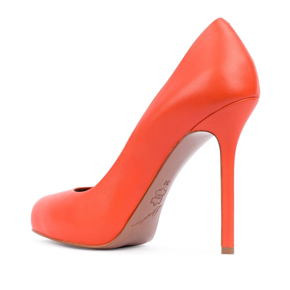 Туфли на каблуке CorsoComo (Корсо Комо) 17-625-02-01A-195 к.п. Туфли жен кожа оранж.
