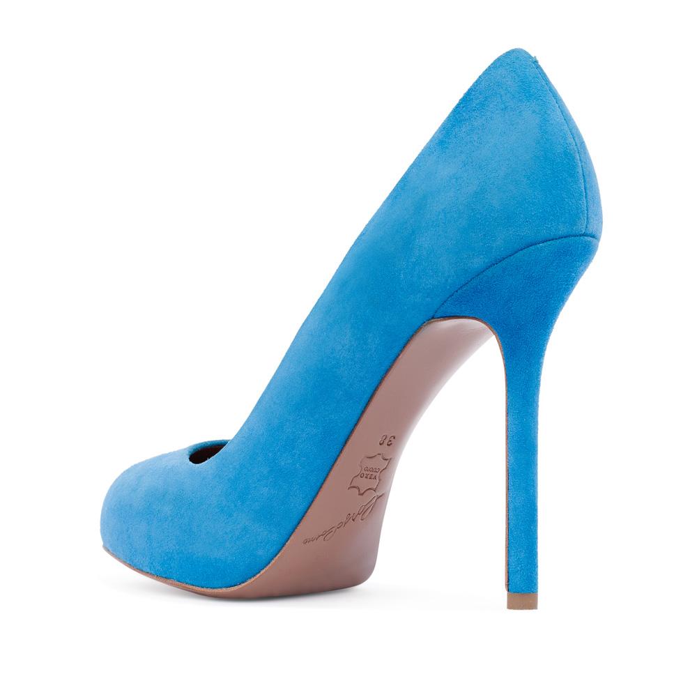 Туфли на каблуке CorsoComo (Корсо Комо) 17-625-02-01A-215 к.п. Туфли жен велюр голуб.