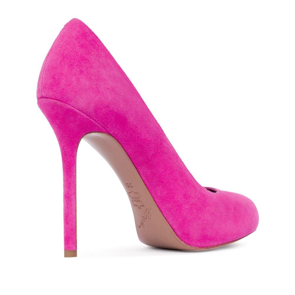 Туфли на каблуке CorsoComo (Корсо Комо) Туфли из замши розового цвета