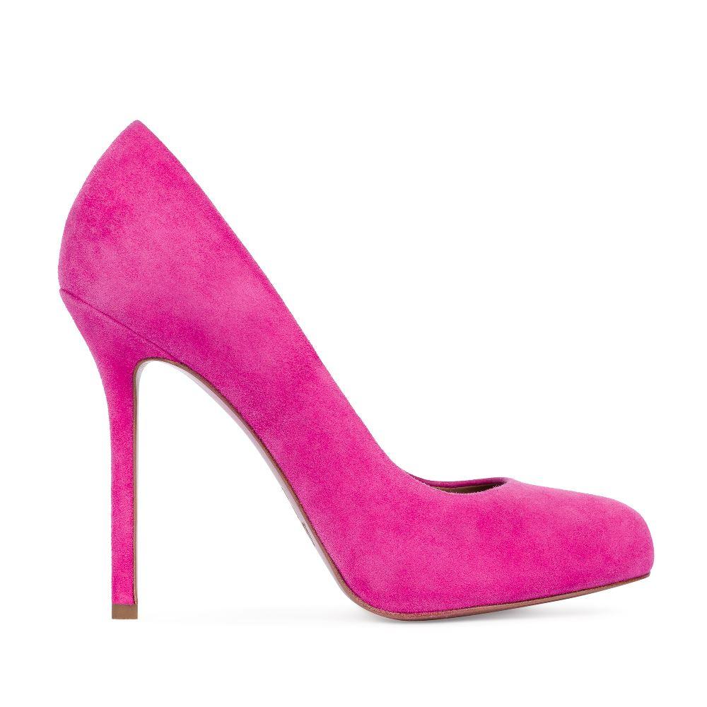 Туфли из замши розового цвета