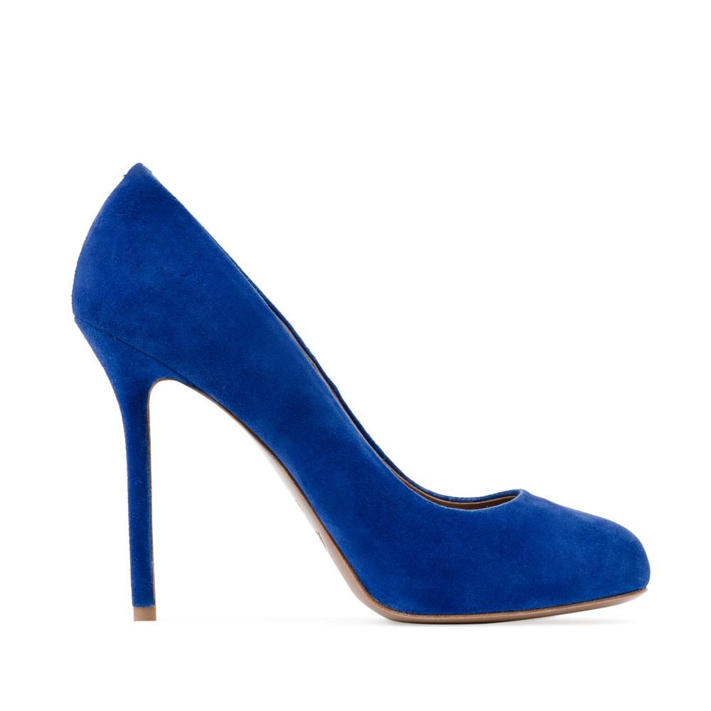 Туфли из замши ультрамаринового цвета