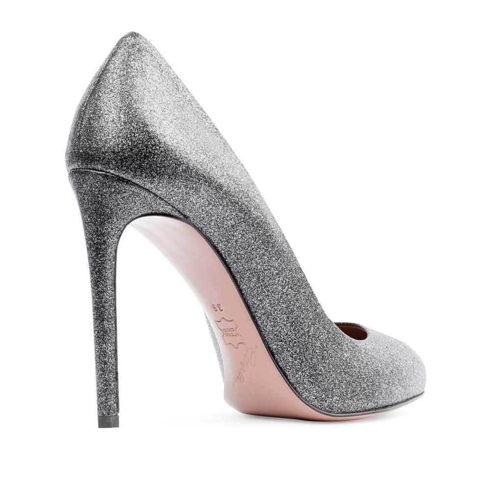 Туфли на каблуке CorsoComo (Корсо Комо) Туфли из кожи серебристого цвета на высоком каблуке