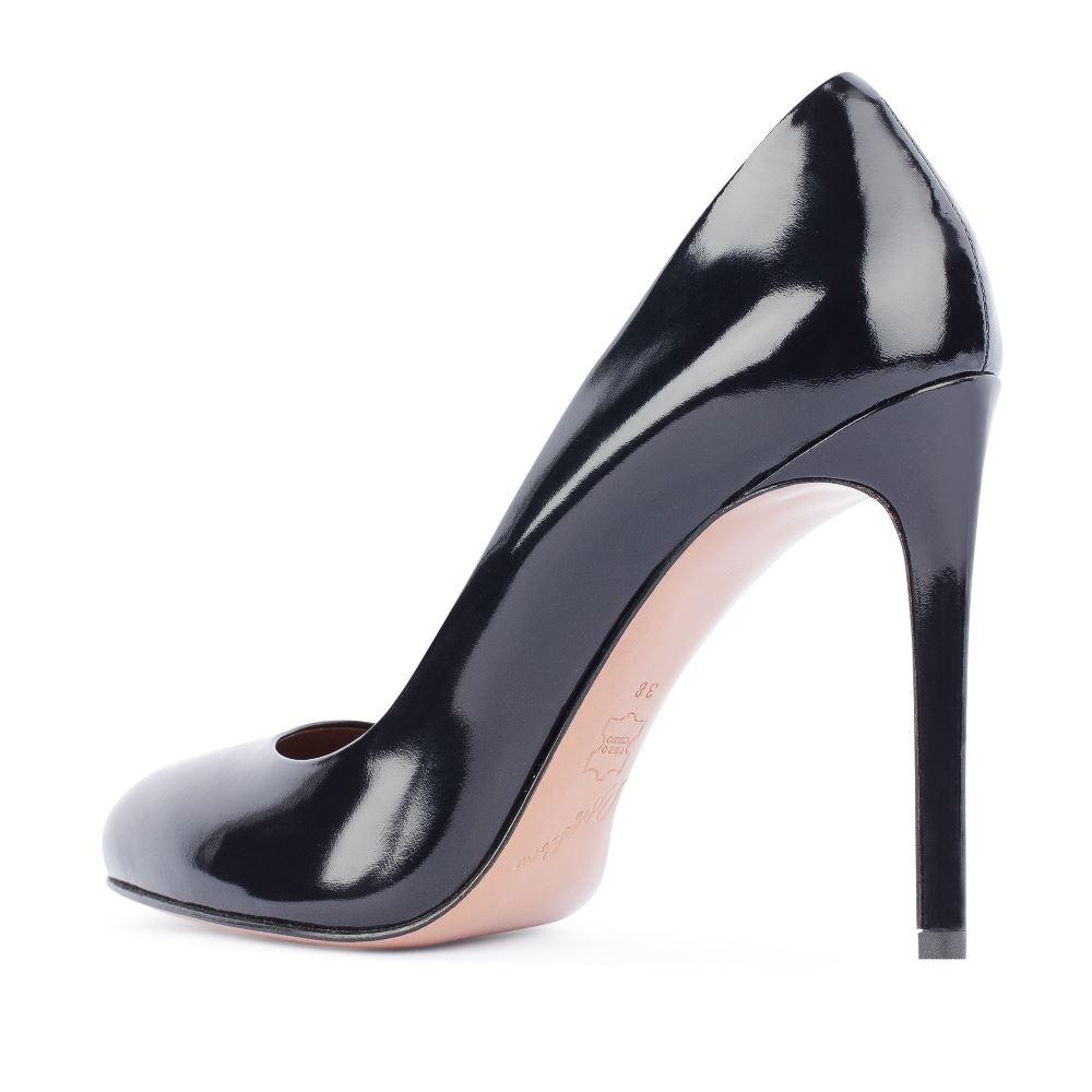 Туфли на каблуке CorsoComo (Корсо Комо) 17-625-03-01-295 к.п. Туфли жен лак т.син.