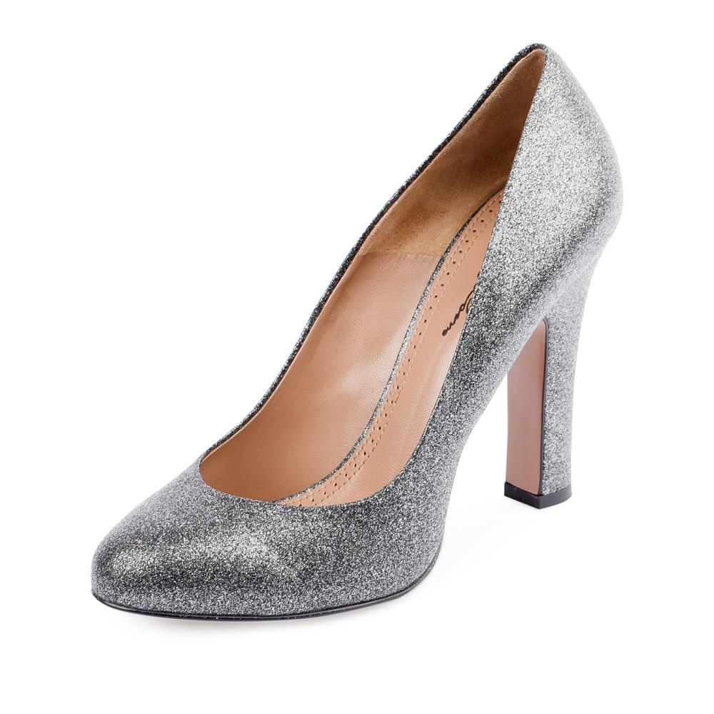 Туфли на каблуке CorsoComo (Корсо Комо) 17-625-06-15-55 к.п. Туфли жен кожа сер.