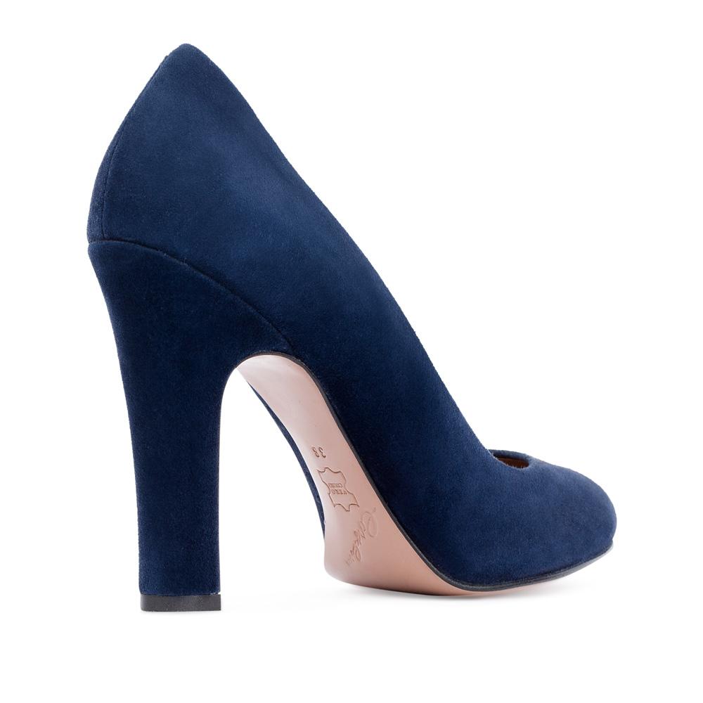 Туфли на каблуке CorsoComo (Корсо Комо) 17-625-06-15-95 к.п. Туфли жен велюр син.