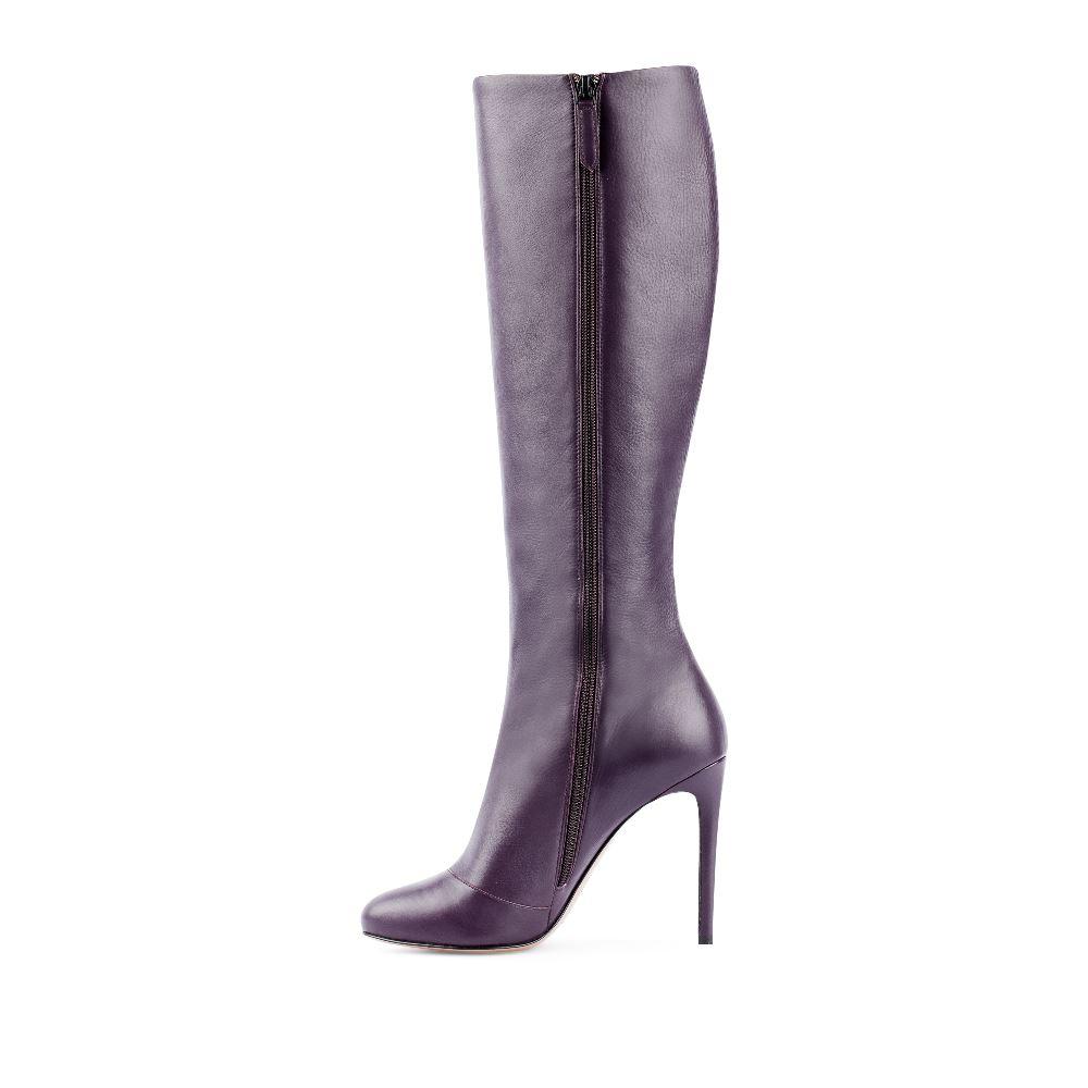 Сапоги на каблуке CorsoComo (Корсо Комо) 17-627-03-19-81 т.п. Сапоги жен кожа фиолет.