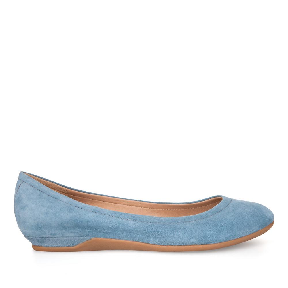 CORSOCOMO Балетки из замши небесно-голубого цвета 17-645-11-105